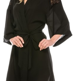 Follow This Love Robe Set- Black