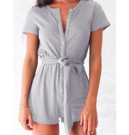 Love Bug Union Suit- Grey