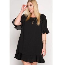 Be Productive Dress- Black