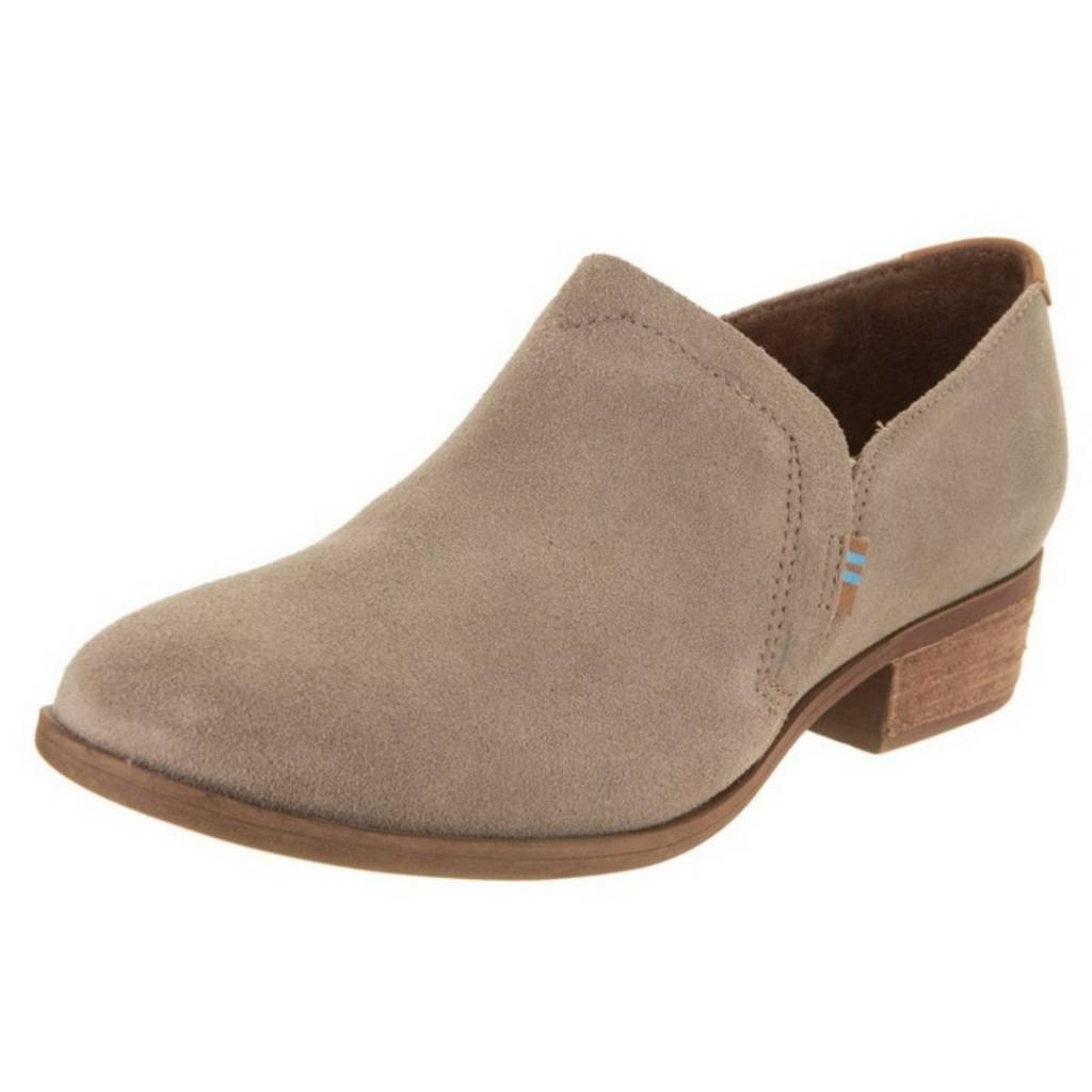 961b5b86e4b5 TOMS Women s Shaye Bootie- Desert Taupe Suede - Cheeky Bliss