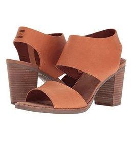 TOMS Majorca Cut Out Sandals Tan Leather