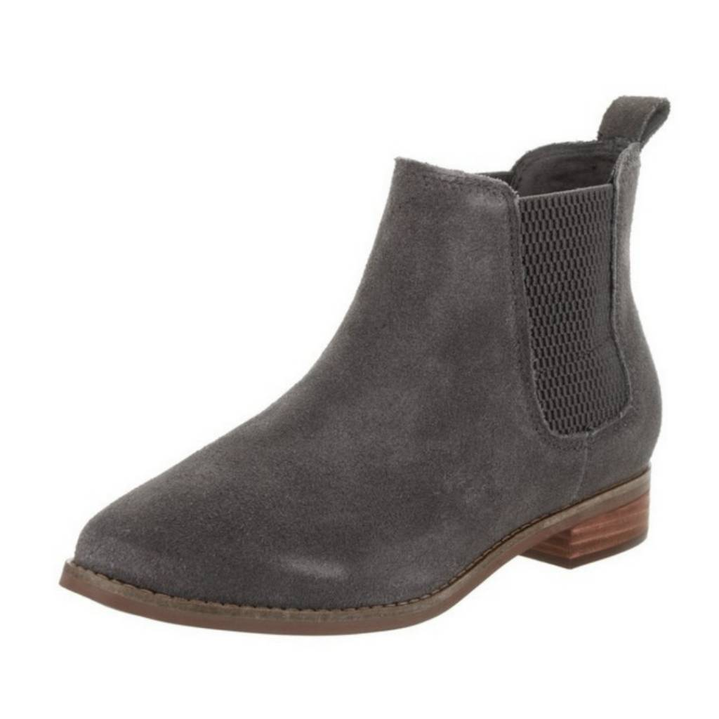 1fc0c158199ddb TOMS Women s Suede Ella Bootie- Forged Iron Grey - Cheeky Bliss