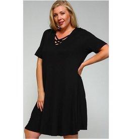 Always Here Dress- Black