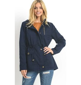 Play By Your Own Rules Utility Jacket- Navy