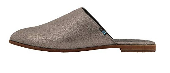 6e227d1dbf2e TOMS Jutti Leather Mule - Pewter Metalic - Cheeky Bliss
