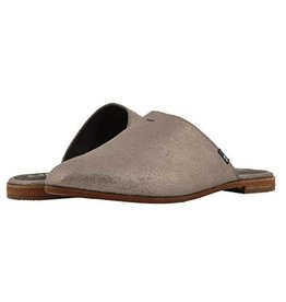 TOMS Jutti Leather Mule - Pewter Metalic