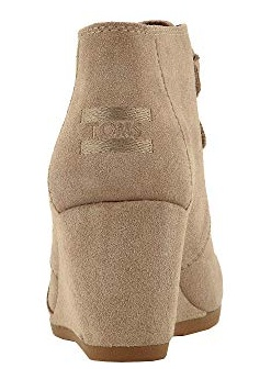 09a17845b1d TOMS Kala Suede Wedge Booties - Desert Taupe - Cheeky Bliss
