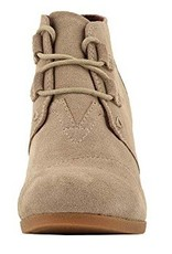 ca873f5b841 TOMS Kala Suede Wedge Booties - Desert Taupe - Cheeky Bliss