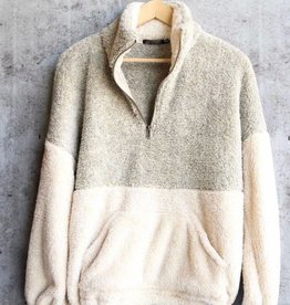 The Good Times Sherpa Pullover- Oatmeal