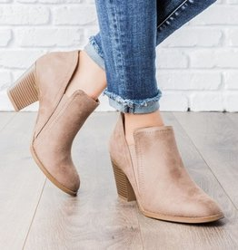 Known Beauty Booties- Taupe
