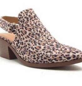Checking In Booties- Camel Leopard