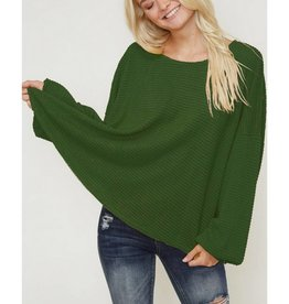 Endless Optimism Waffle Knit Top- Olive