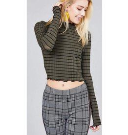 Hoping For This Crop Top- Olive/Black