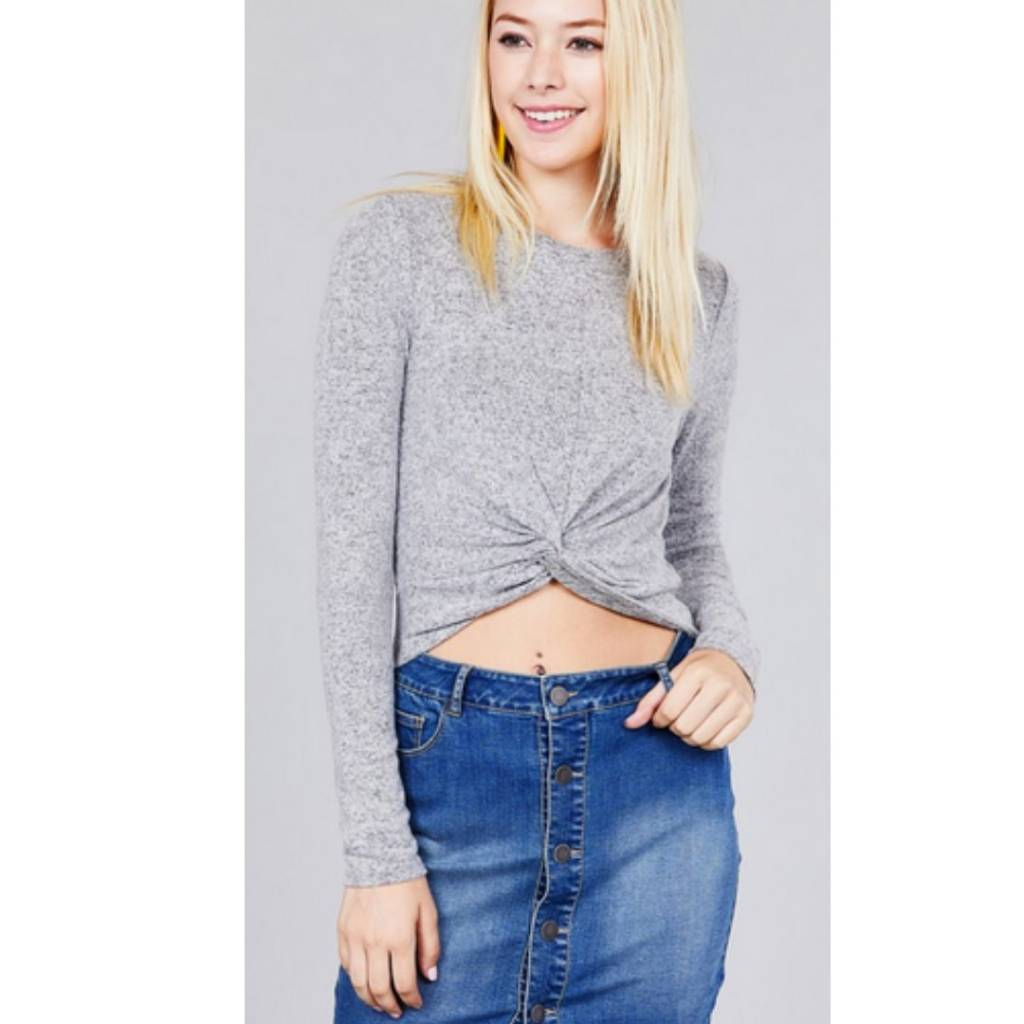 355bdfd6fcb Something To Remember Crop Top- Heather Grey - Cheeky Bliss