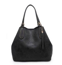 The Bailey 2 in 1 Satchel Bag- Black