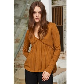 Beauty In The Details Top- Caramel