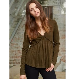 Beauty In The Details Top- Olive