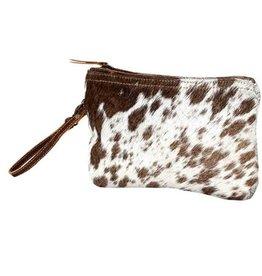 MYRA BAG White & Brown Hairon Small Bag