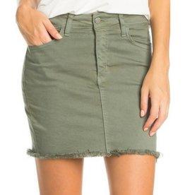 Ready For Fun Denim Skirt - Olive