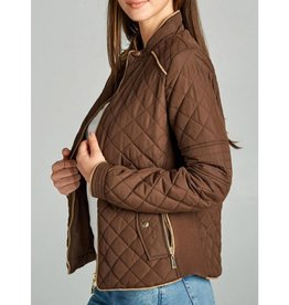 Winding Roads Quilted Jacket - New Brown