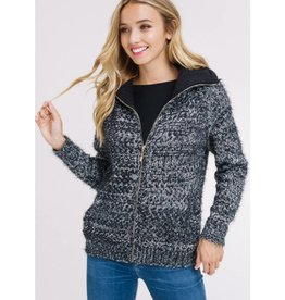 Frosty Favorite Sweater Jacket - Black