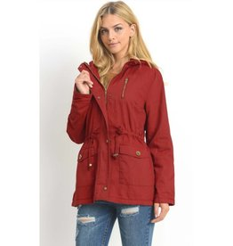 Play By Your Own Rules Utility Jacket- Red