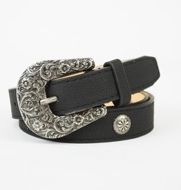 Sweet Talk Western Style Belt- Black