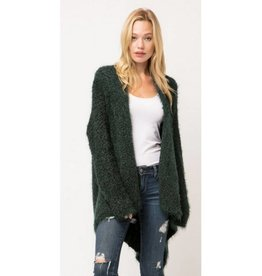 Caught Up In Comfort Popcorn Cardigan - Green