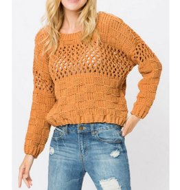 Fall Right Back Sweater - Mustard
