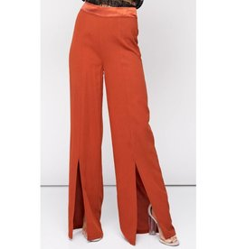 Never Going Back High Waisted Woven Pants- Rust