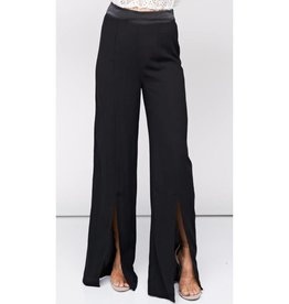 Never Going Back High Waisted Woven Pants- Black