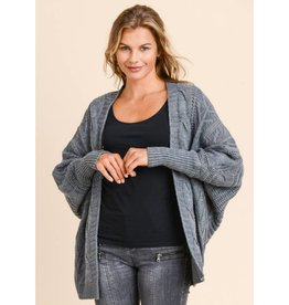 Found The Beauty Loose Fit Cardigan- Charcoal