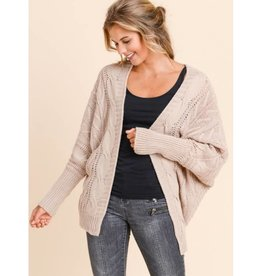 Found The Beauty Loose Fit Cardigan- Mauve