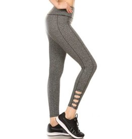 So It Begins Ankle Length Leggings - Grey