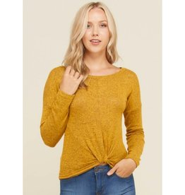 Madly in Love Twist Bottom Top- New Mustard