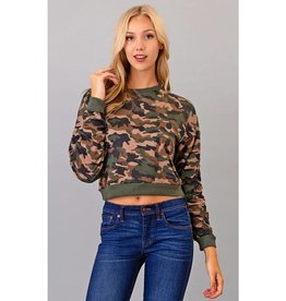 Meet You Later Crop Top - Camo