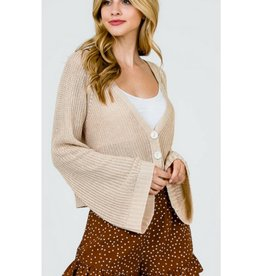 Couldn't Be Better Crop Top Cardigan- Natural