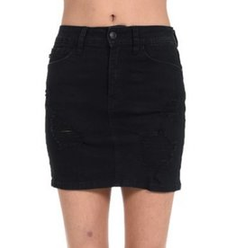 Damage Is Done Skirt- Black