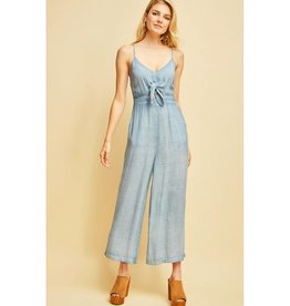 Social Butterfly Jumpsuit- Indigo