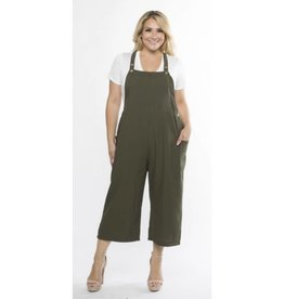 Beauty Becomes You Overalls - Olive