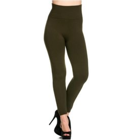 FL Fleece Leggings Dark Olive One