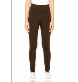 FL Fleece Leggings Dark Brown One