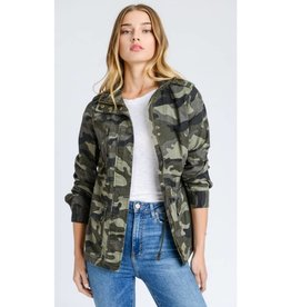 Never Riding Solo Jacket- Olive Camo