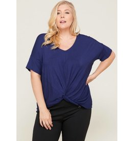 Say It Simply Top- Navy