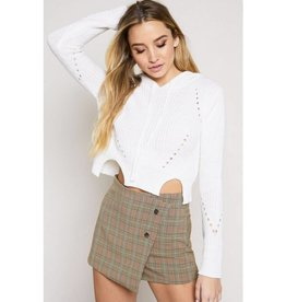 Feeling Lazy Crop Sweater- Ivory