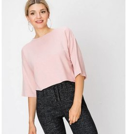 A Bright Future Raw Edge Crop Top- Mauve