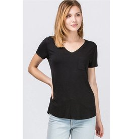 Not So Plain Jane Top - Black