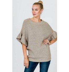 Autumn Blaze Sweater Top- Oatmeal