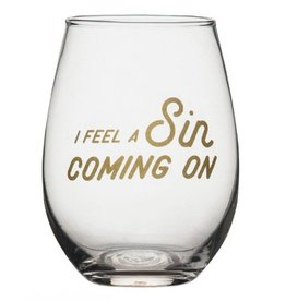 Wine Glass- Sin Coming
