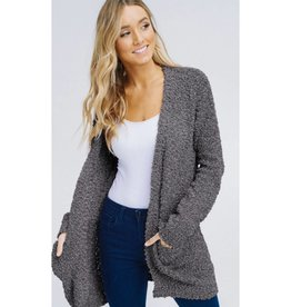 Let's Cuddle Cardigan - Charcoal